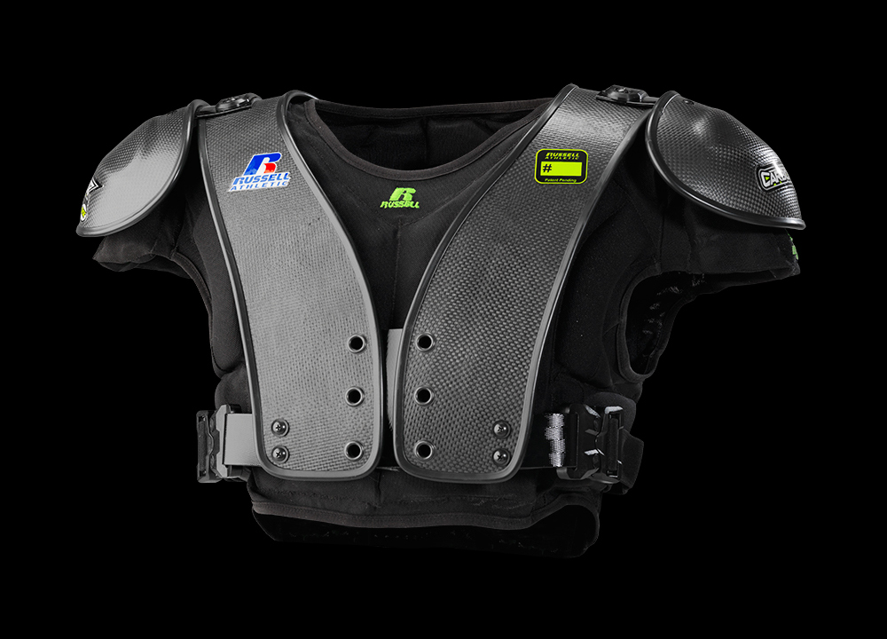 360° view of Carbon Tek Football Shoulder Pads