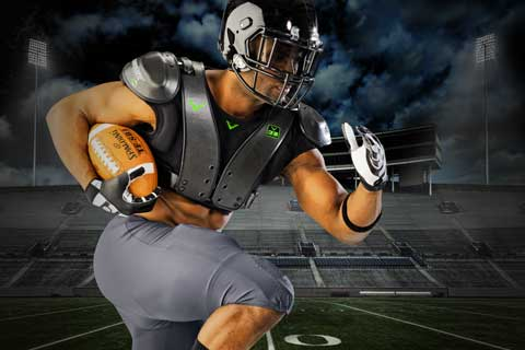 CarbonTek™ Carbon Fiber Football Shoulder Pads