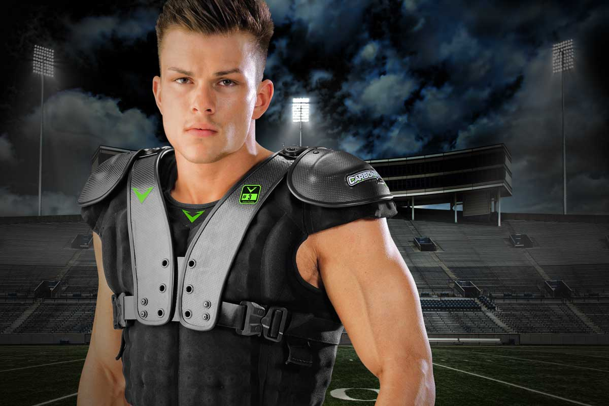 Designed for Speed - CarbonTek™ Carbon Fiber Football Shoulder Pads